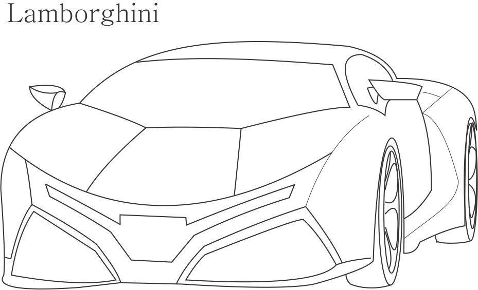 Super Car Lamborghini Coloring Page For Kids Coloring Home