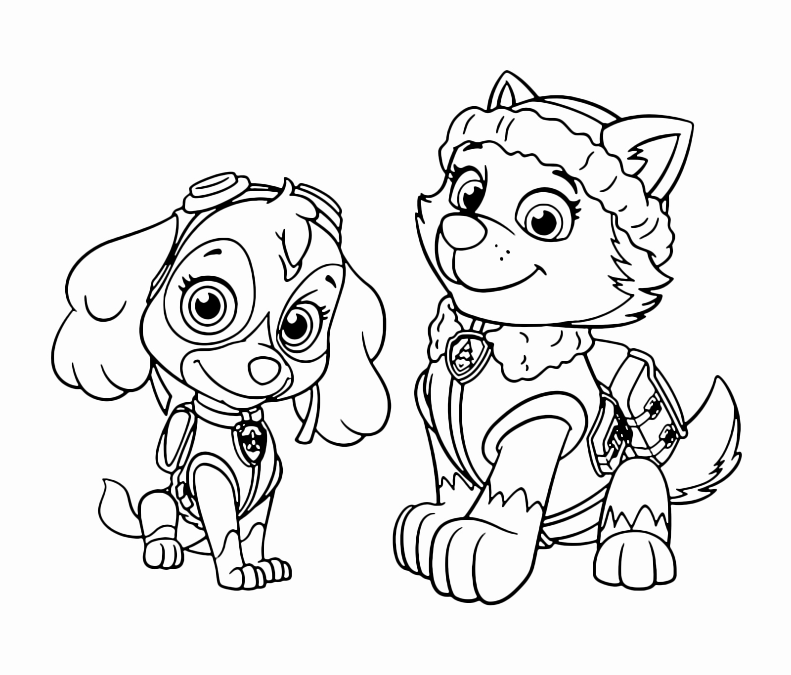 Paw Patrol Skye Coloring Pages - Coloring Home