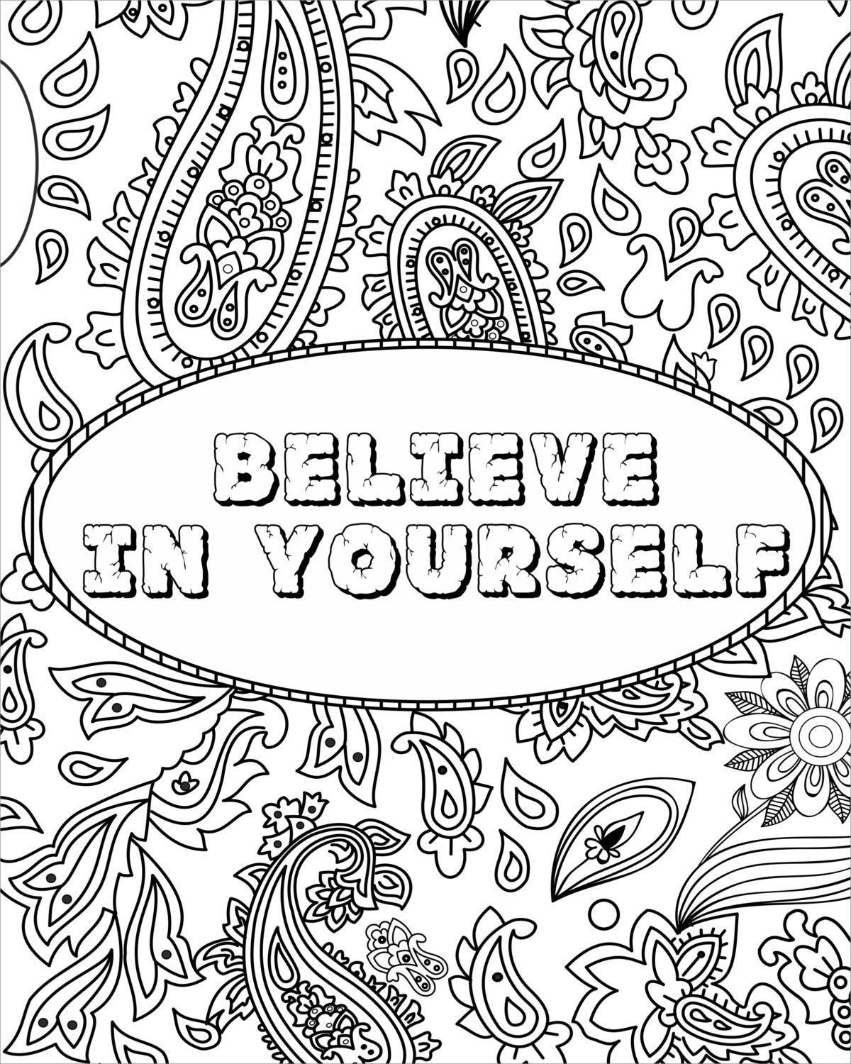 Inspirational Quotes Coloring Pages - Coloring Home
