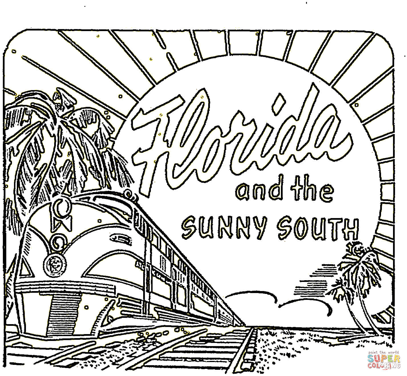 florida coloring pages - photo#17