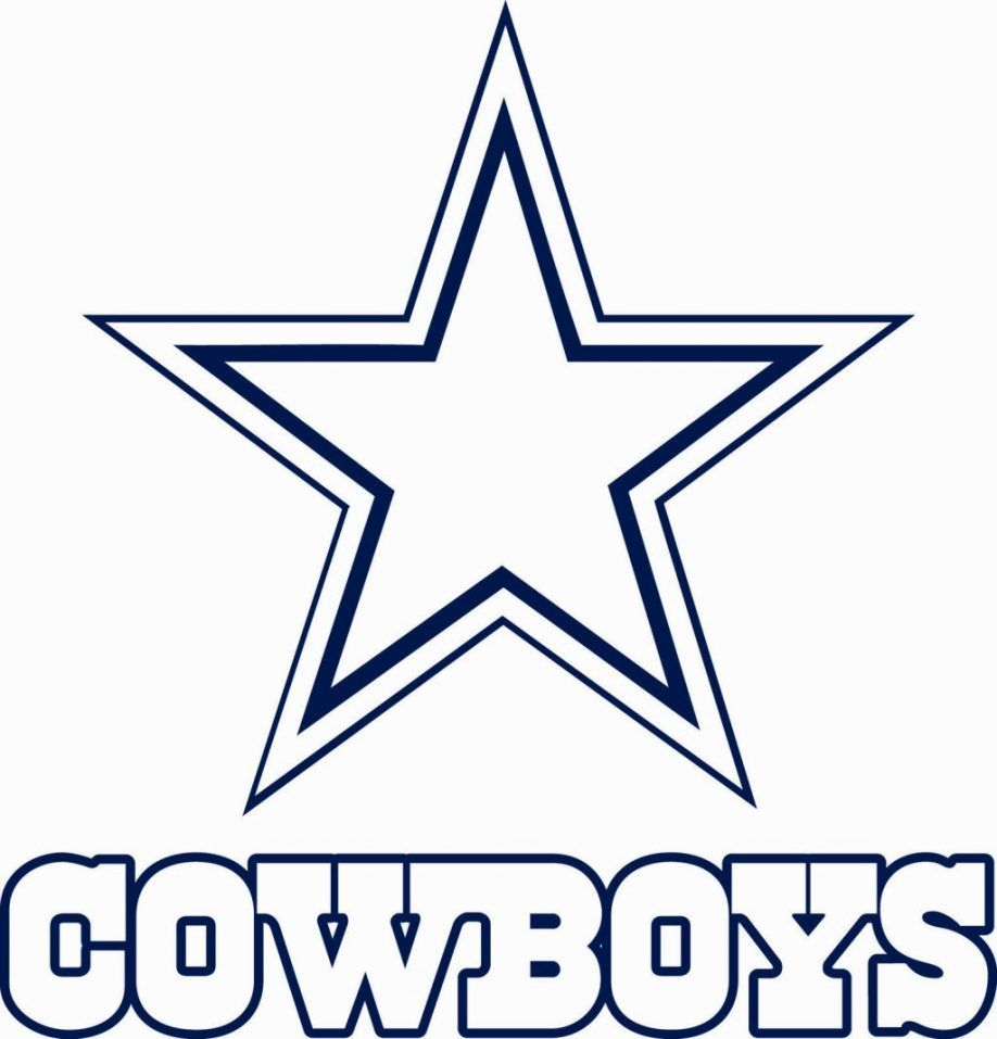 Cowboys football coloring pages coloring home for Dallas cowboys logo coloring page