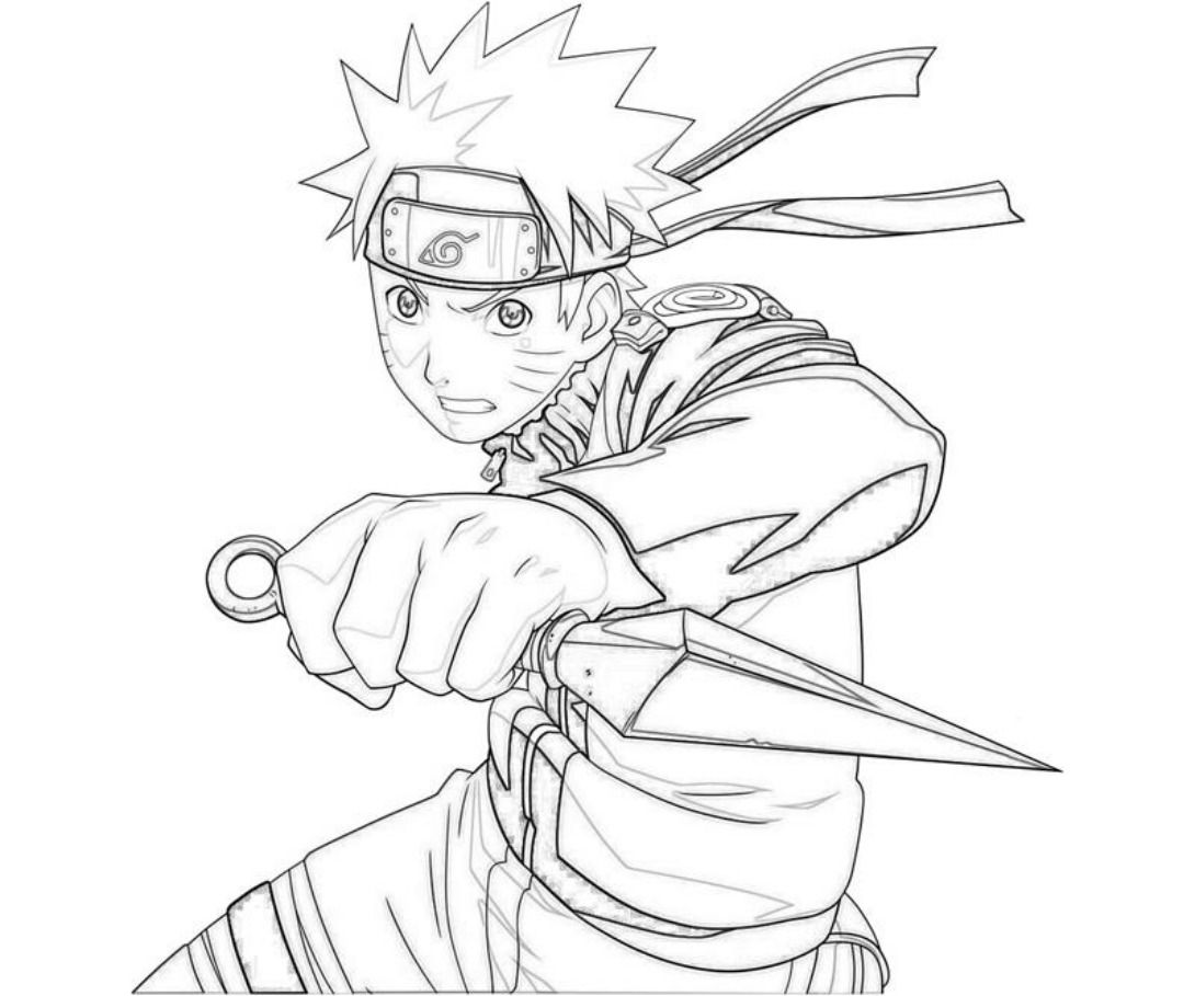 Coloring Pictures Of Naruto - Coloring Pages For Kids And For Adults ...