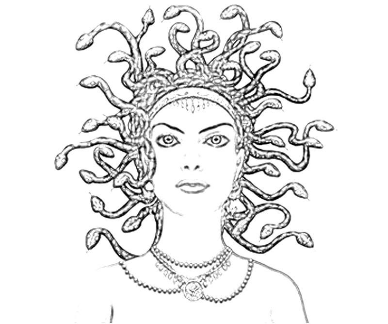 Medusa Coloring Page