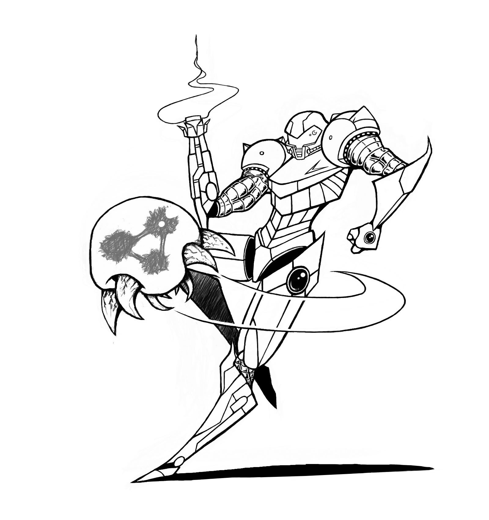 Metroid Coloring Page Coloring Home Metroid Coloring Pages