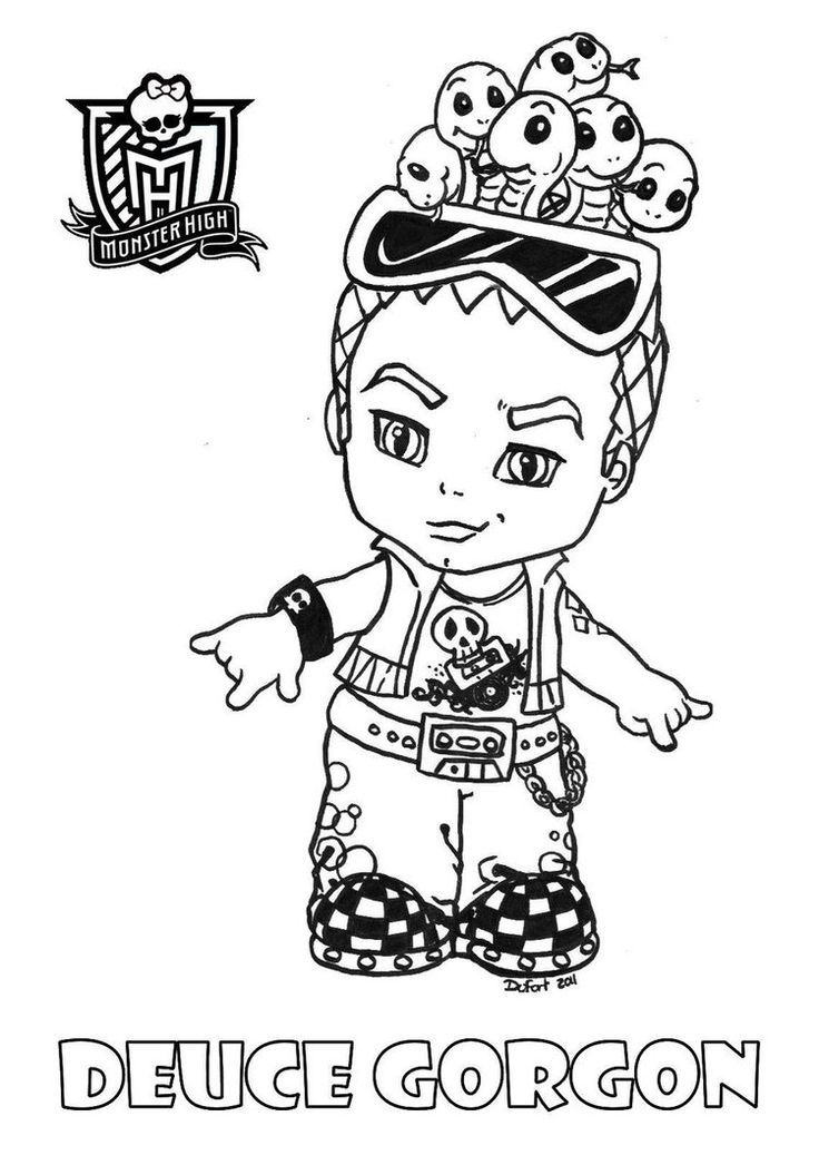 small monster high coloring pages - photo#19
