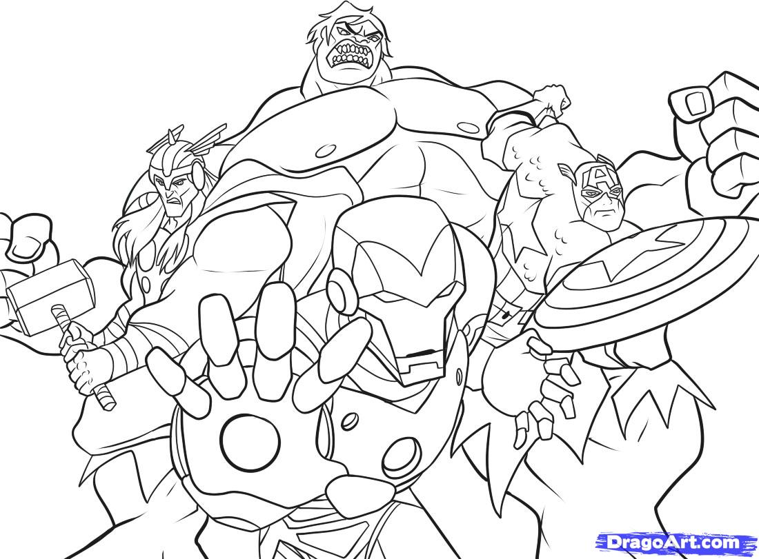 Super Hero Coloring Pages To Print High Quality