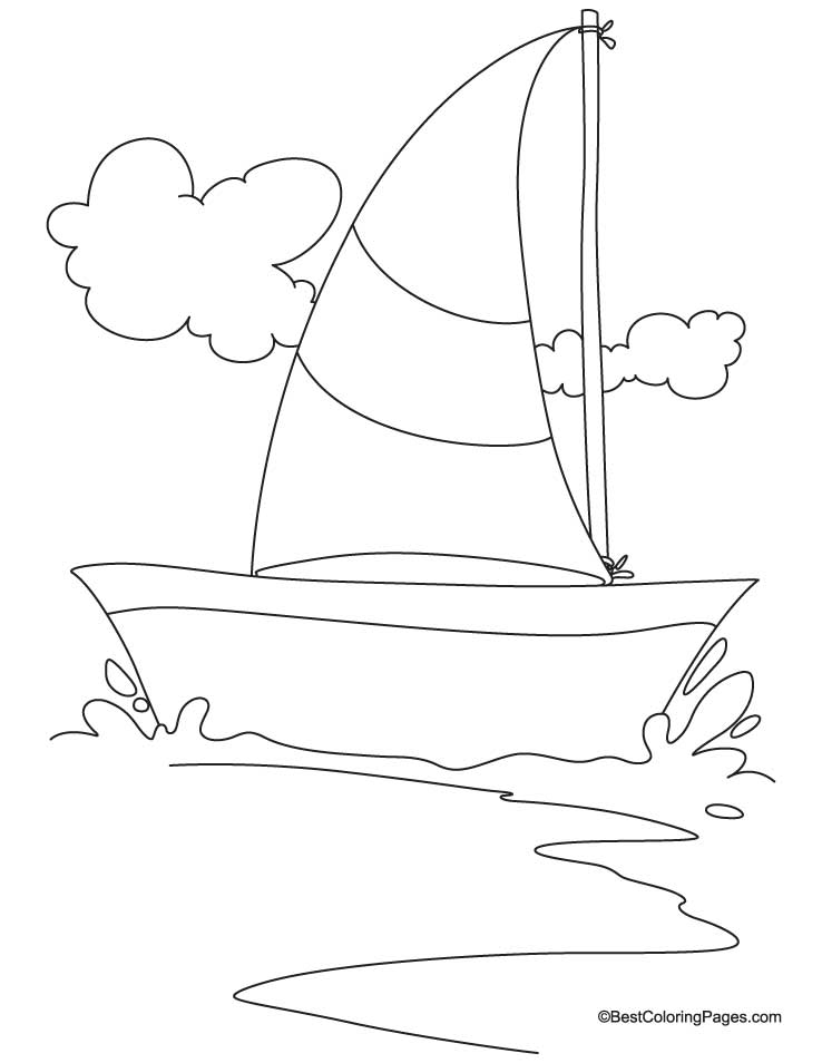 Sailing yacht coloring page | Download Free Sailing yacht coloring