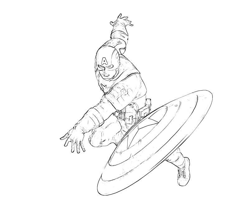 Captain America Coloring Pages To Print Coloring Home
