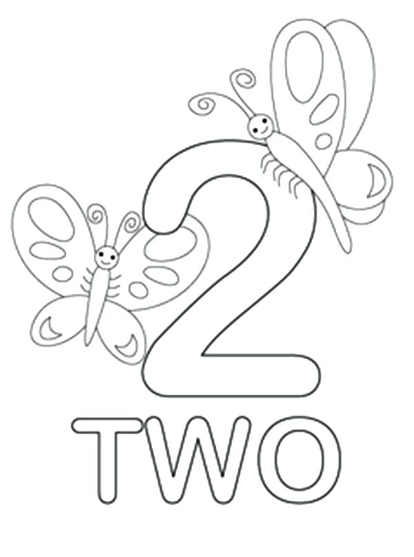 Number 2 Preschool Coloring Sheet (Page 5) - Line.17QQ.com