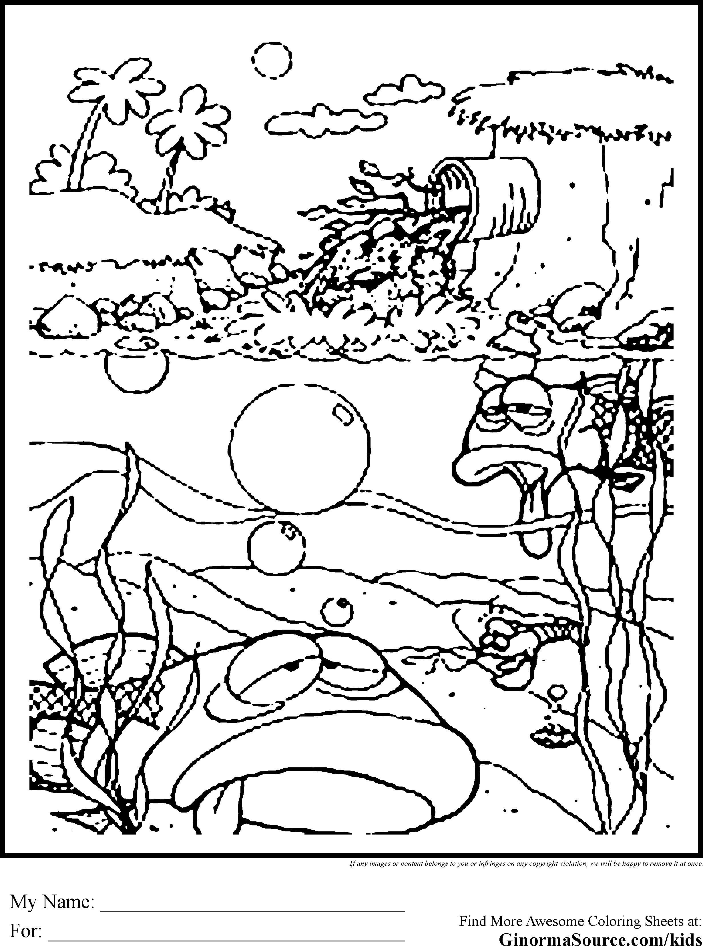 coloring pages for hawaii beaches coloring home