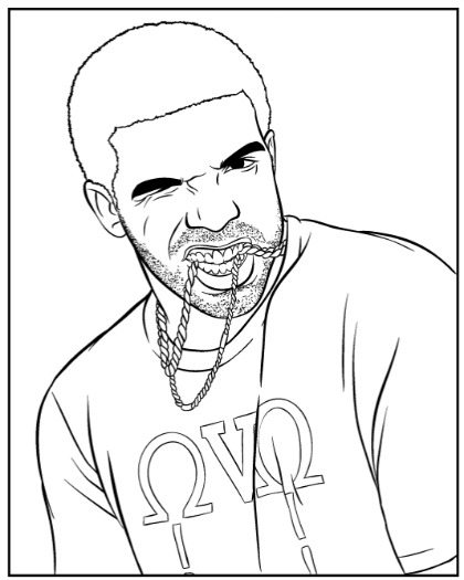 Drake rapper coloring page coloring home for Drake coloring pages