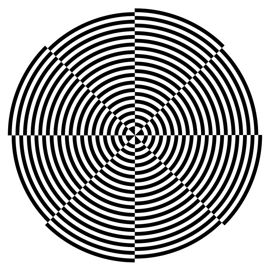 optical illusions illusion 3d coloring drawing spiral hole vector pages cool line eye mind draw trick geometric tricks chessboard eyes