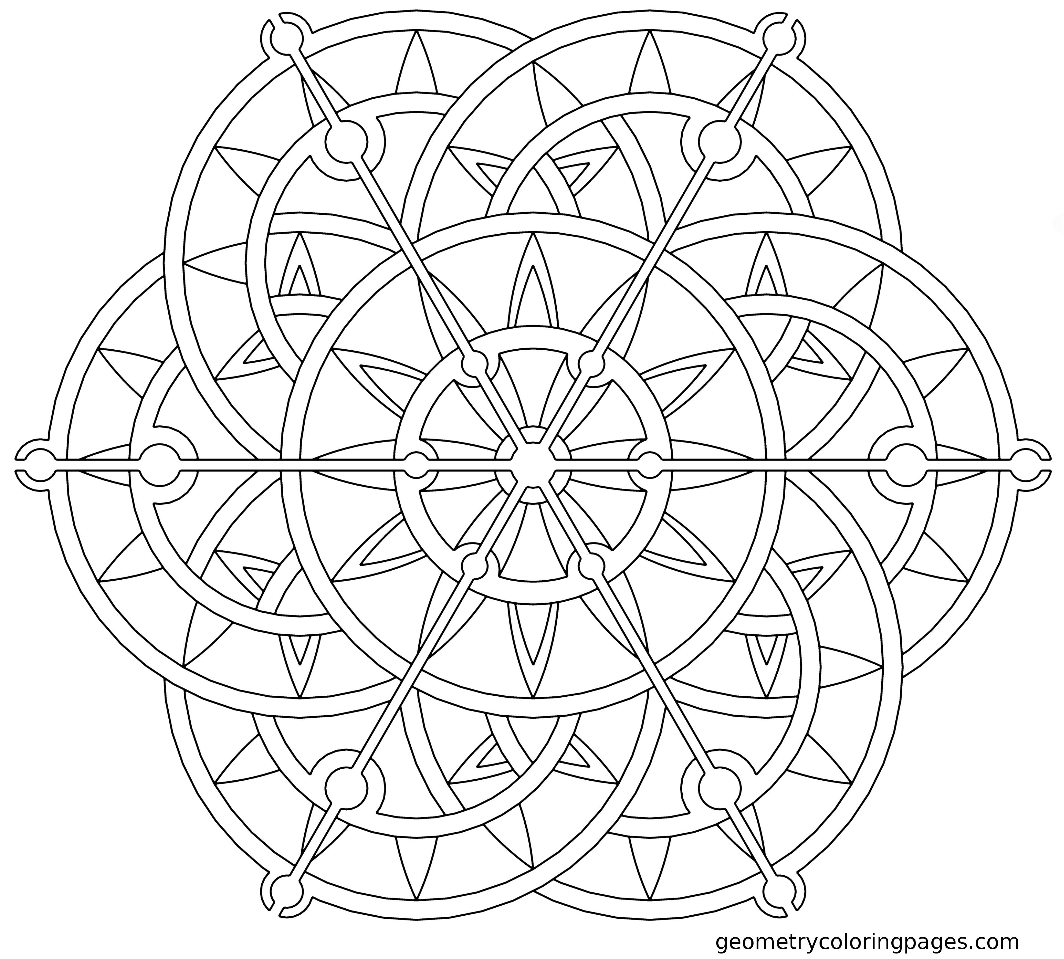 mandala geometric printable coloring pages | Geometric Mandala Coloring Pages - Coloring Home
