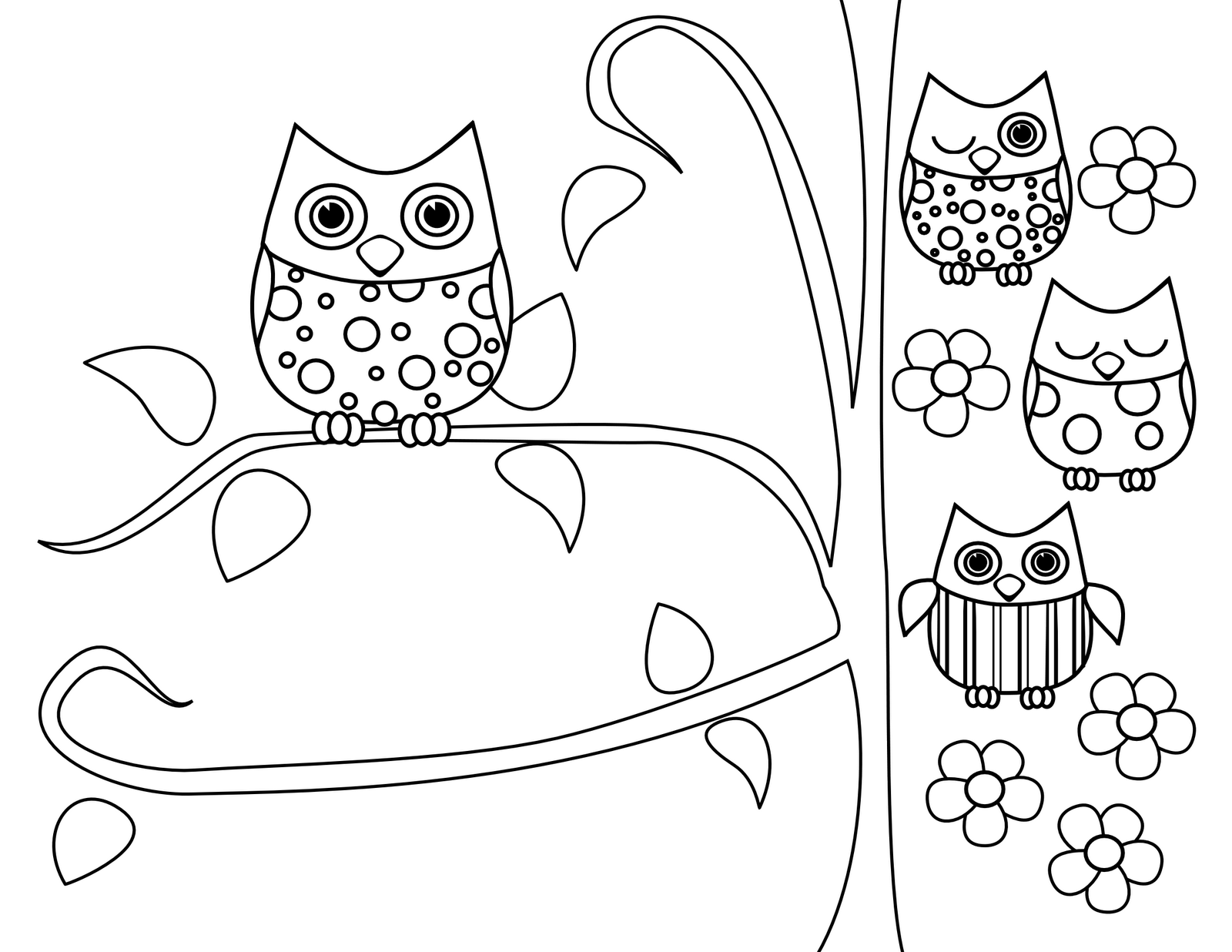 Cute owl coloring pages coloring home for Printable owl coloring pages