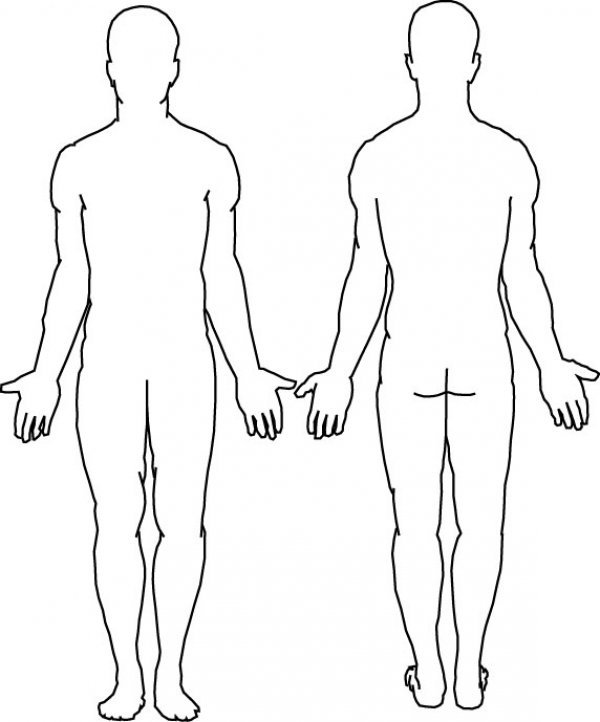 Body Outline Coloring Page - Coloring Home