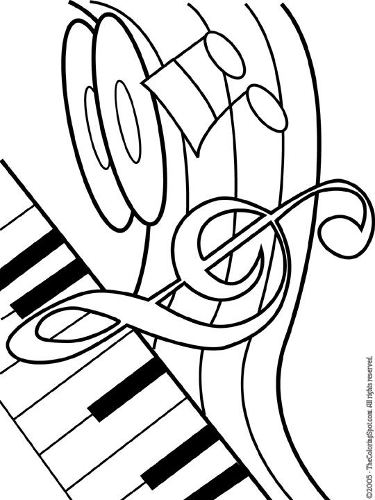 Music Coloring Pages | Coloring ...