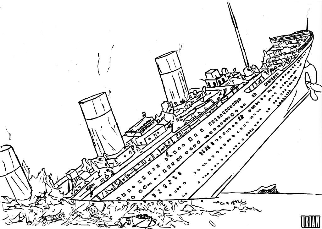 Titanic coloring pages to print coloring home for Titanic coloring book pages
