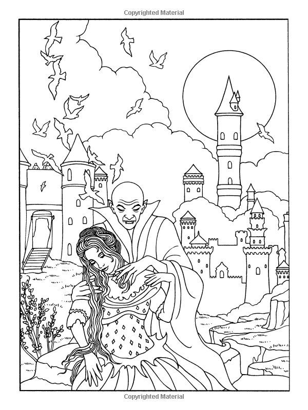 Coloring Pages Vampires Coloring