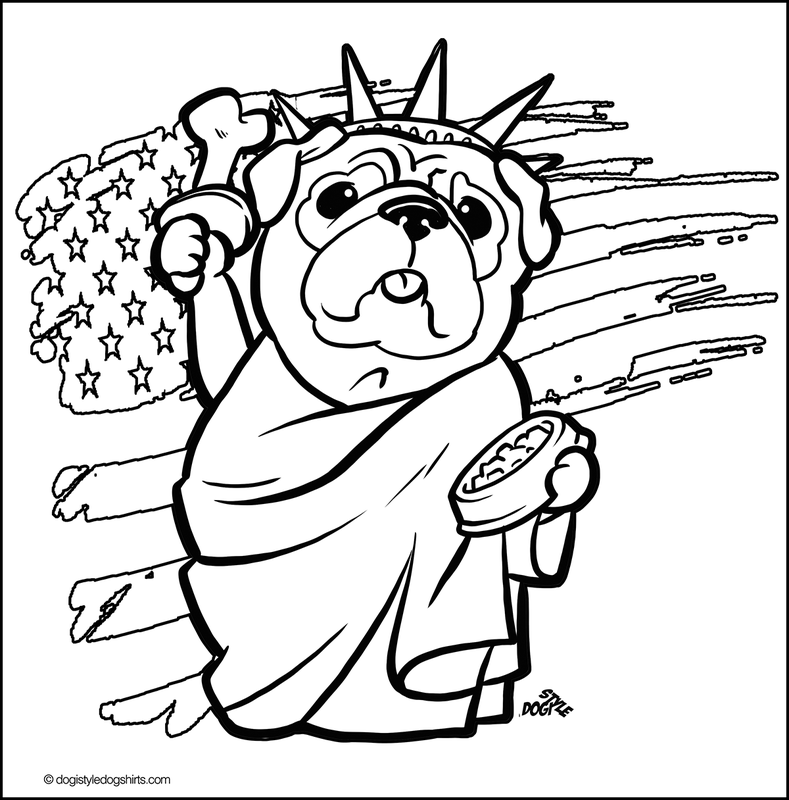 Pug For Kids - Coloring Pages for Kids and for Adults
