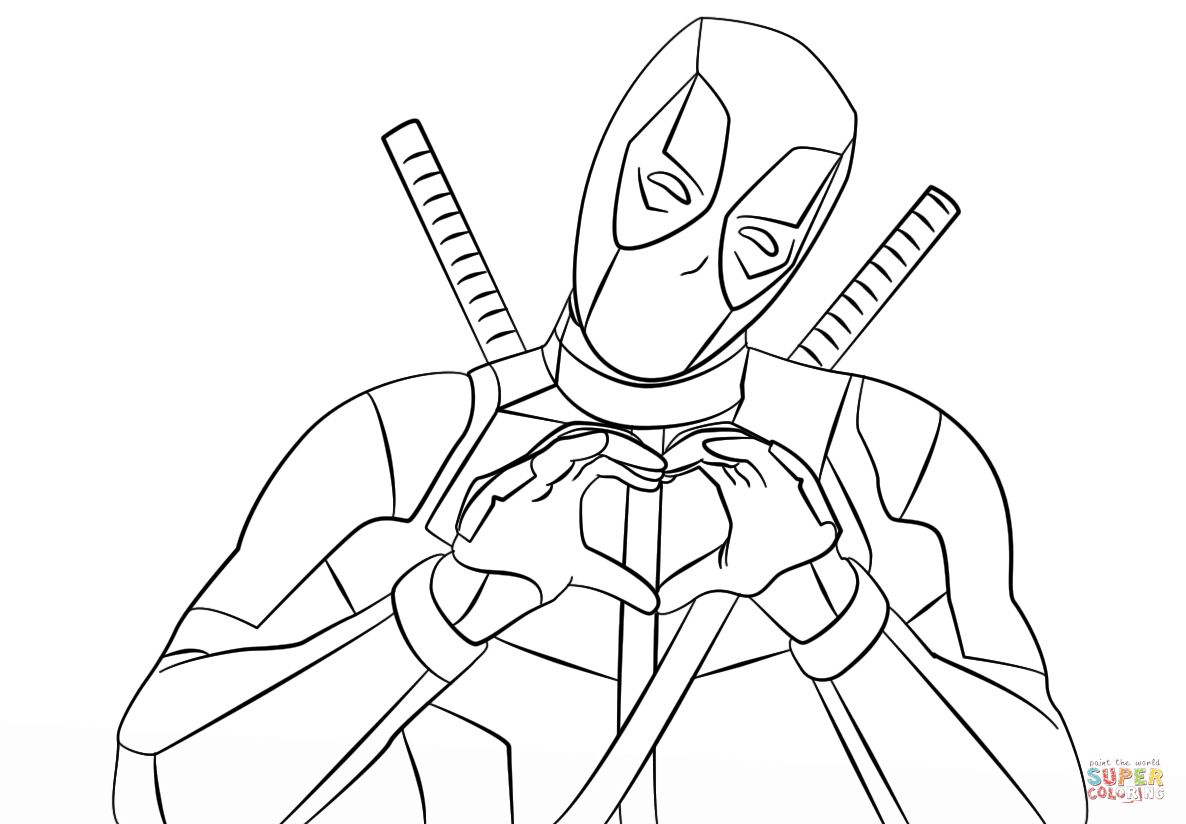 Deadpool coloring pages printable az coloring pages for Deadpool printable coloring pages