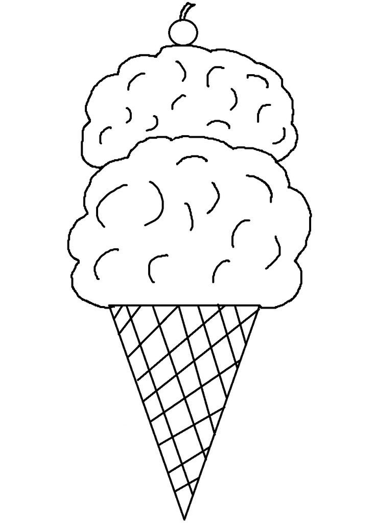 Free Printable Ice Cream Coloring Pages For Kids Coloring Page