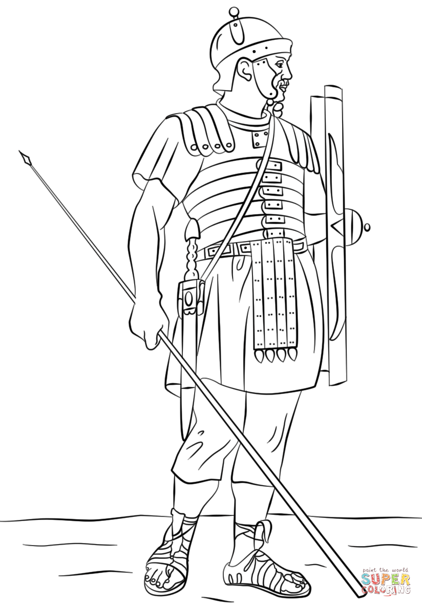 Ancient Roman War Coloring Pages - Coloring Home