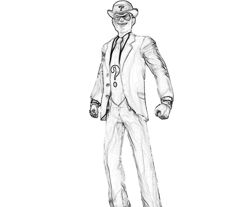 13 pics of riddler arkham city coloring pages batman arkham city - Batman Arkham City Coloring Pages