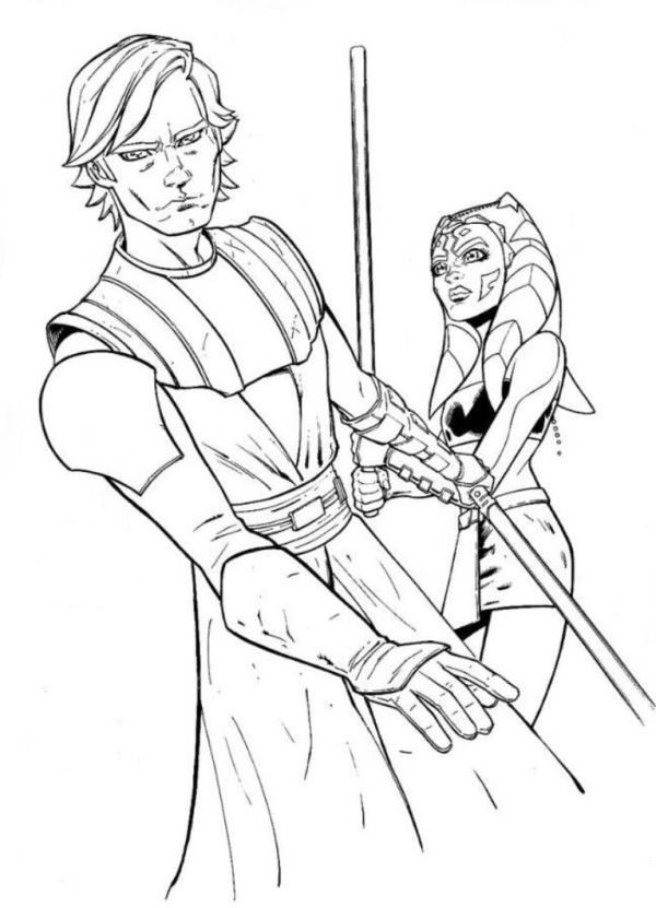 Clone Wars Commander Coloring Pages
