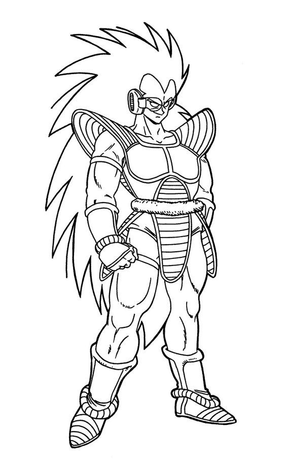 Raditz Dragon Ball Coloring Pages | Coloring Page ... | Pinterest ...