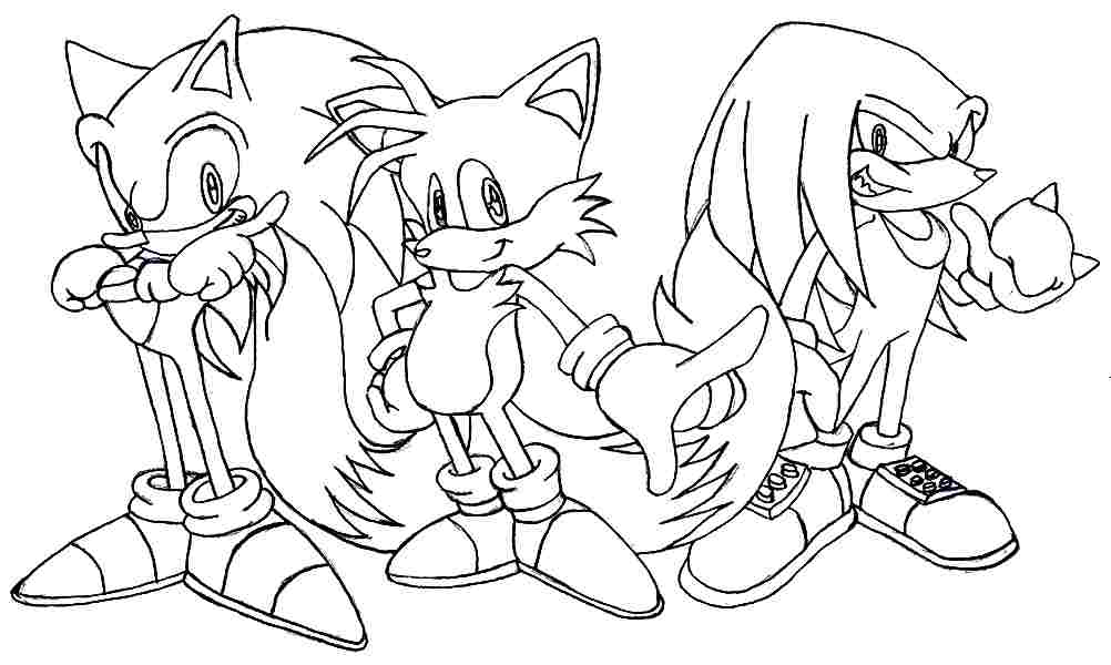 tails and shadow coloring pages - photo#4