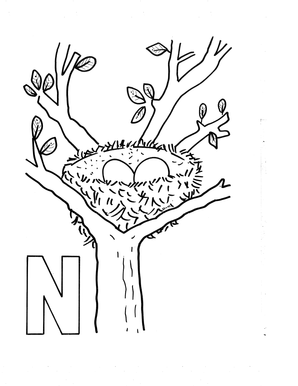 5 Best Images of Free Printable Letter N Coloring Pages - Letter N ...