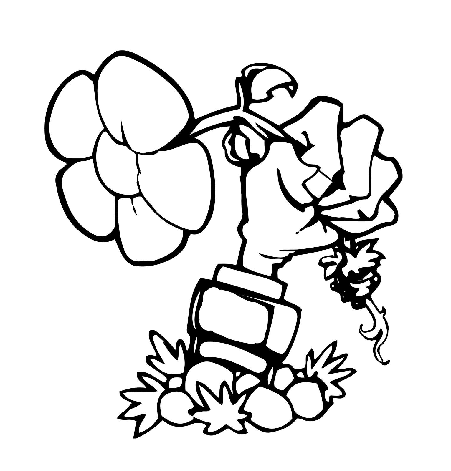 Peashooter Coloring Pages - Coloring Home