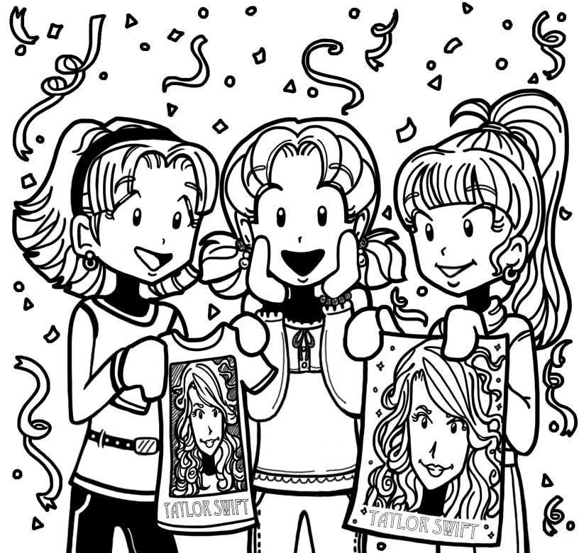 dork diaries 8 coloring pages - photo#11