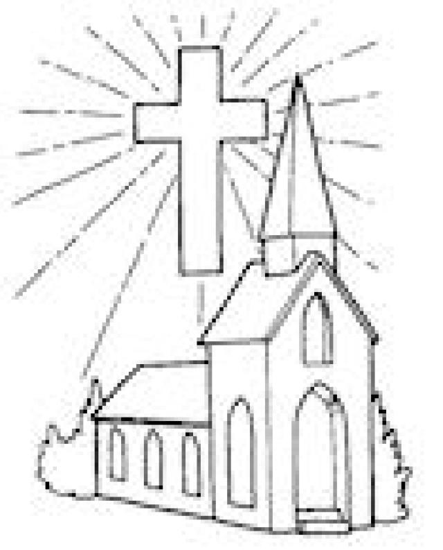 church coloring page coloring pages for kids and for adults