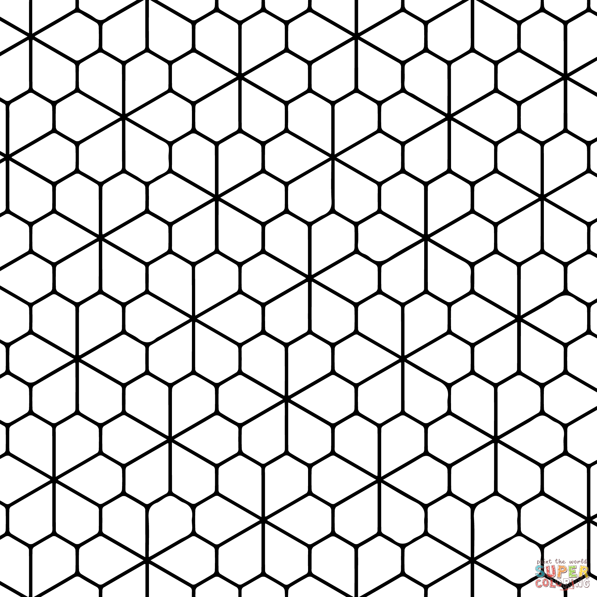 Printable Tessellations - Coloring Pages for Kids and for Adults