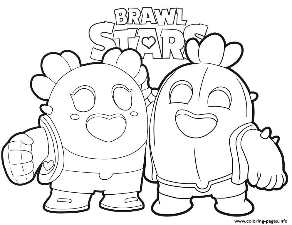 Cactus Love Brawl Stars Coloring Pages Printable