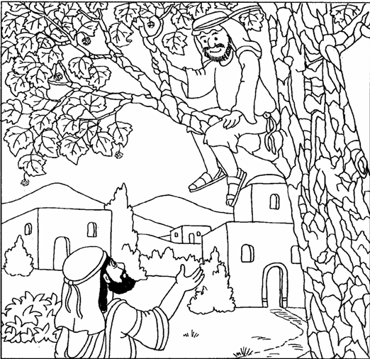 coloring pages on zacchaeus - photo#5