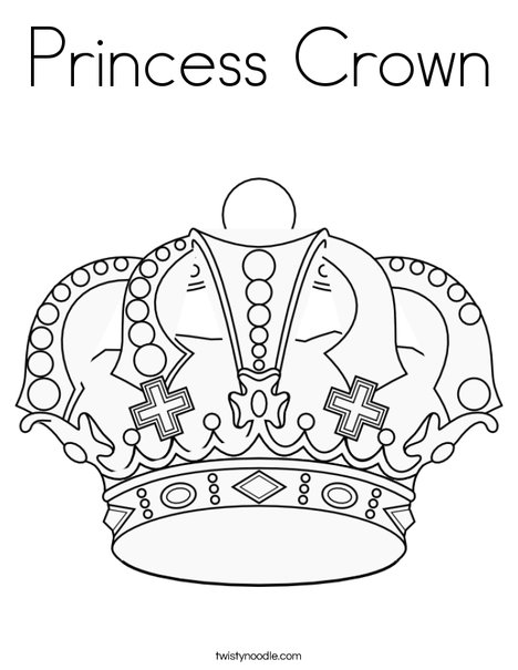princess crown coloring pages - photo#22