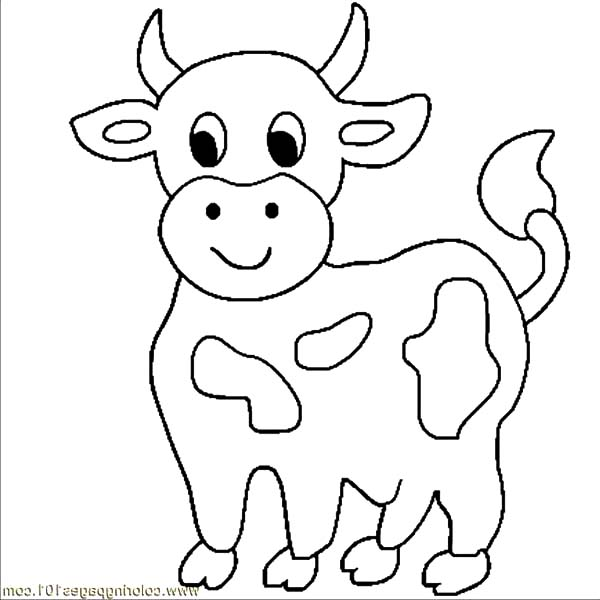Cow Coloring Page #11668 - Coloring Home