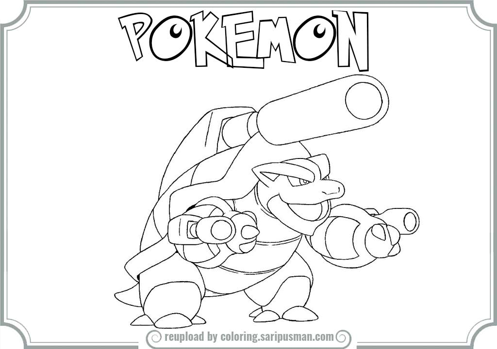 Pokemon Coloring Pages Mega Blastoise Google Twit Coloring Home