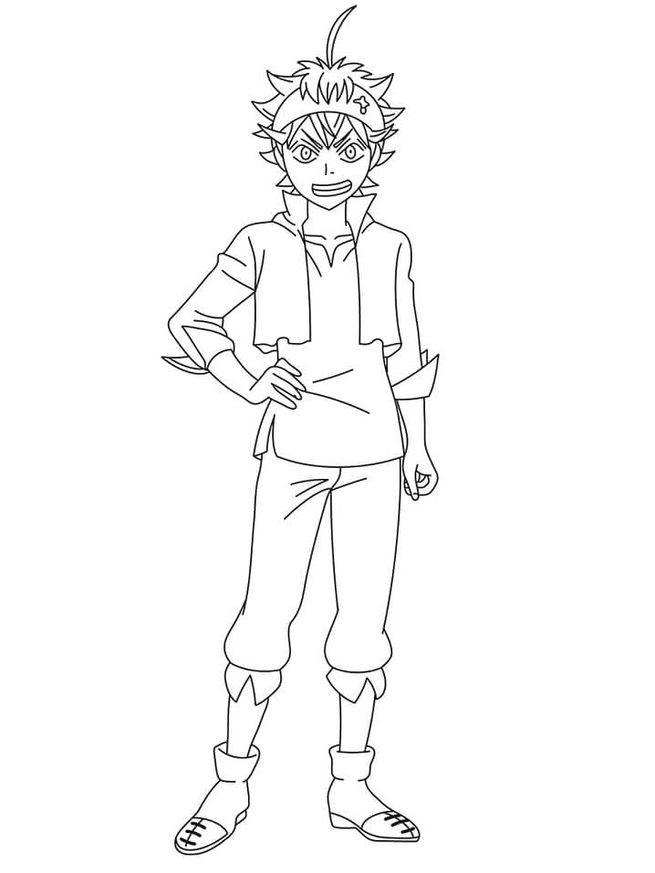 Asta Black Clover Coloring Page - Free Printable Coloring Pages for Kids