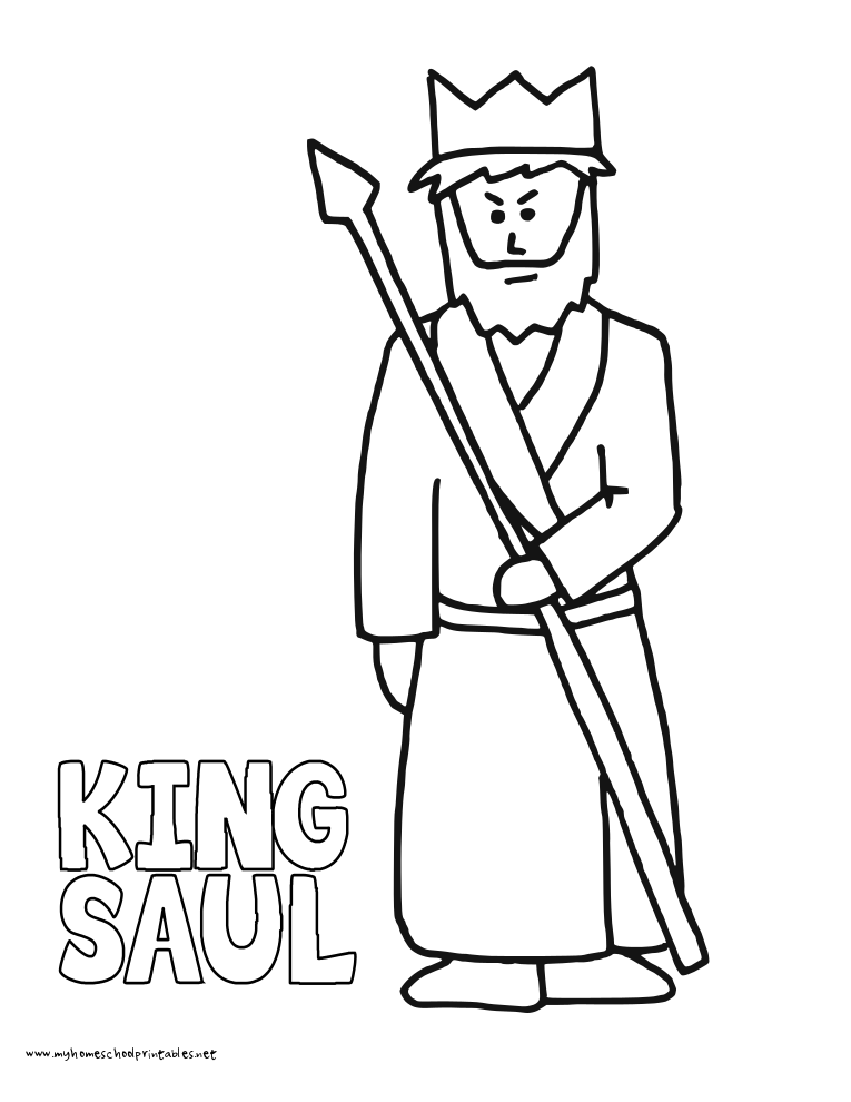 King Saul Coloring Page - Coloring Home
