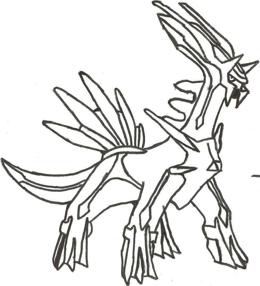 Dialga Coloring Page Coloring