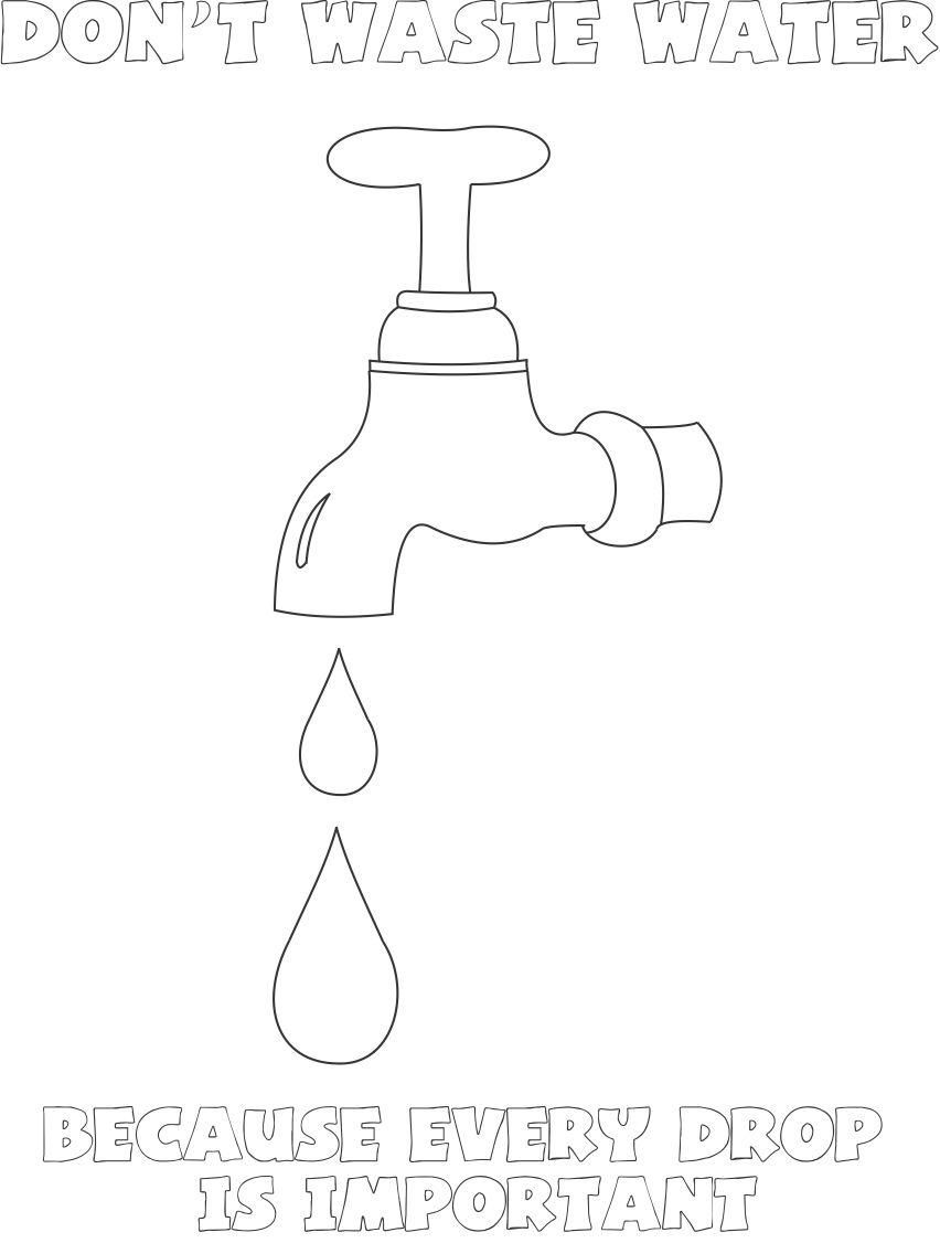 Clip Art Coloring Pages Of Water coloring pages save water az coloring
