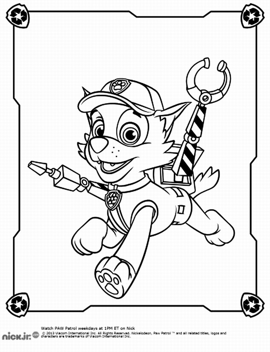 Paw patrol coloring pages robo dog - Rocky Paw Patrol Coloring Pages