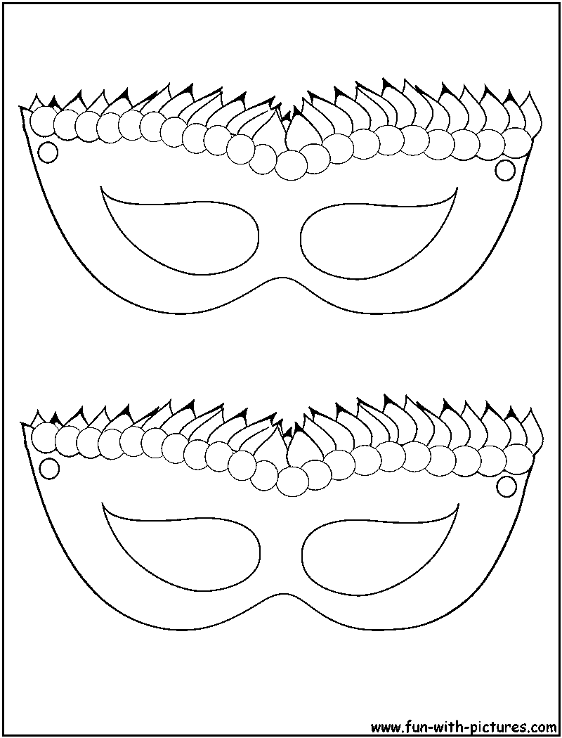 11 Pics of Mardi Gras Jester Mask Coloring Page - Mardi Gras ...