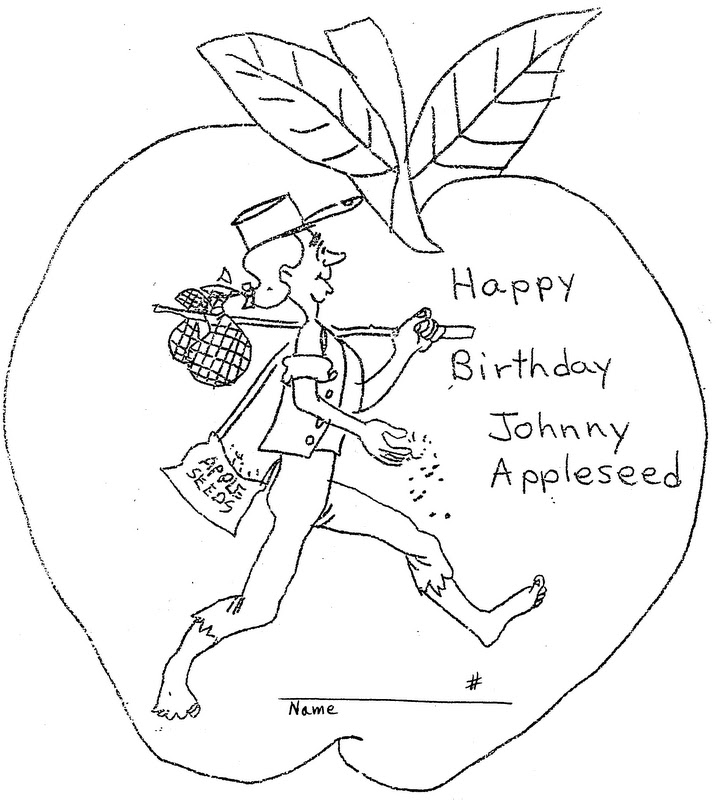 Johnny Appleseed Coloring Pages  Coloring Home
