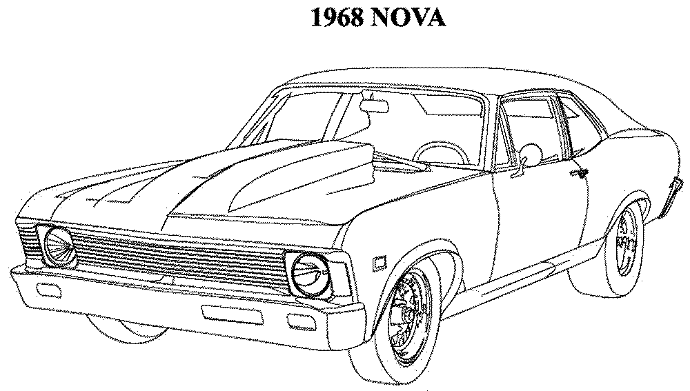 muscle cars coloring pages drawings - photo#25