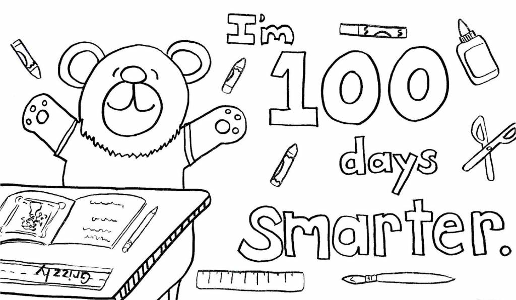 100th day of school coloring pages free coloring pages - 100th Day Of School Coloring Pages