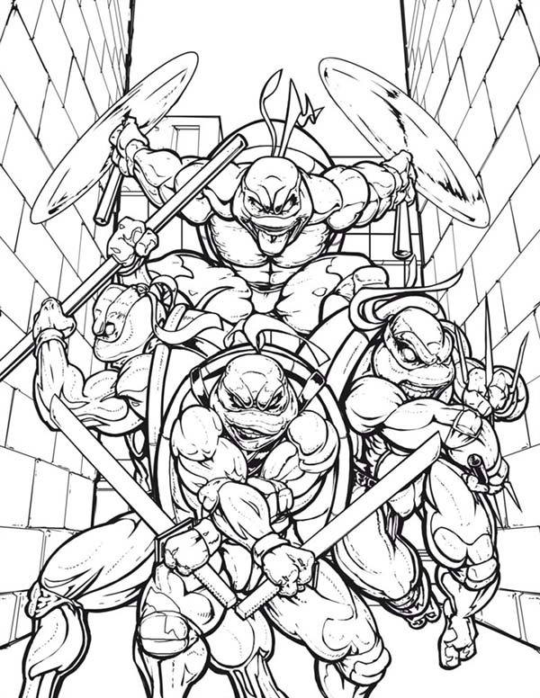 Teenage Mutant Ninja Turtle Coloring Page